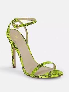 Snake print shoe