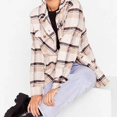 Nasty Gal checkered shirt